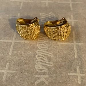 Faux gold clip on earrings